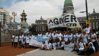 Agmer participó de la movilización docente que se realizó en Buenos Aires