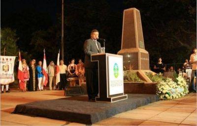 Peppo participó del acto por el aniversario de Resistencia