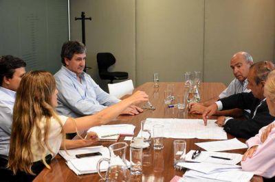 Por infraestructura, Sánchez se reunió con el ministro Gigante