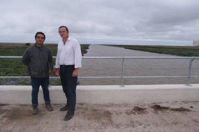 Etchevarren agradeció a Vidal por las obras hidráulicas