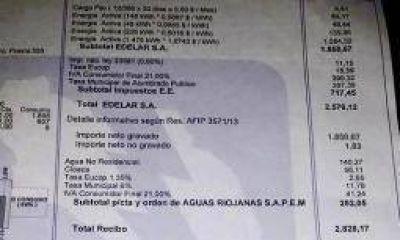 Los aumentos en las boletas de Edelar serán del 54%