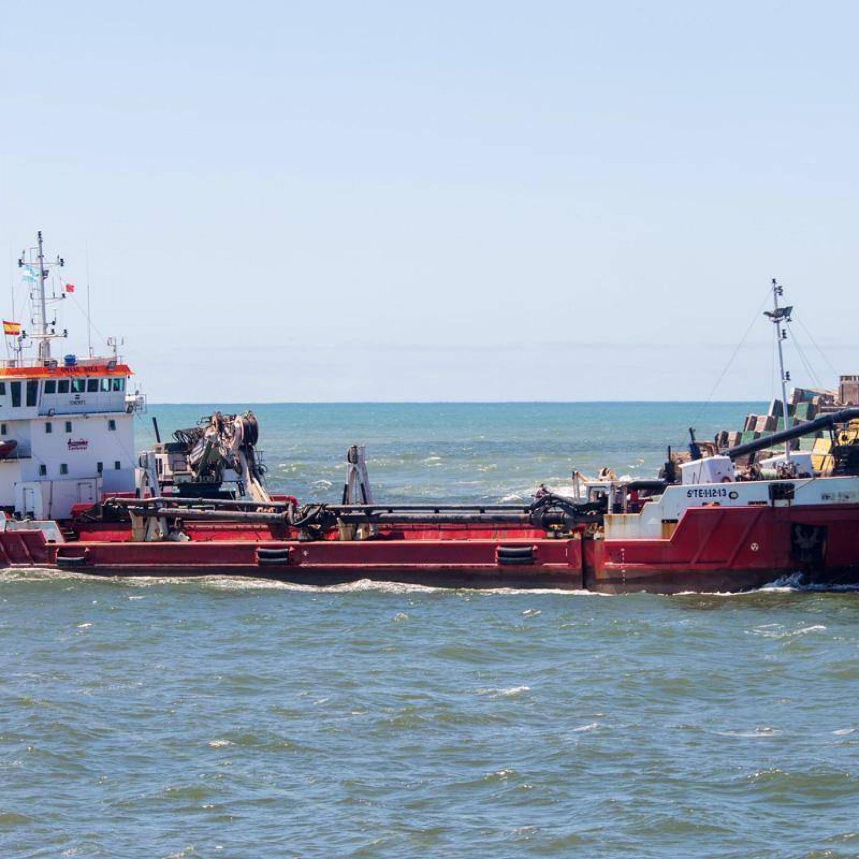 Comienzan los primeros trabajos de la draga en el puerto - Trabajo en el puerto ...