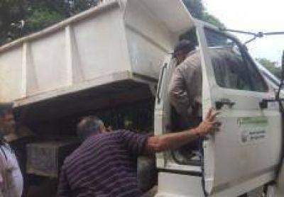Agua potable en El Amanecer y camión volcador para Castro