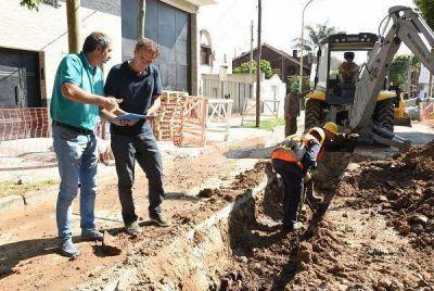Gabriel Katopodis recorrió nueva obra hidráulica en San Andrés