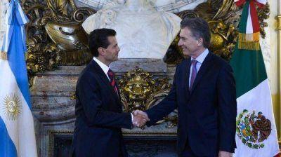Enrique Peña Nieto agradeció a Mauricio Macri la posición argentina con respecto al muro