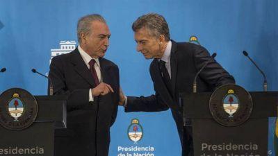 Macri se reunirá con Temer para mostrar un Mercosur más atractivo