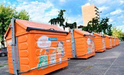 Cien mil rosarinos contarán con nuevos contenedores de separación de residuos