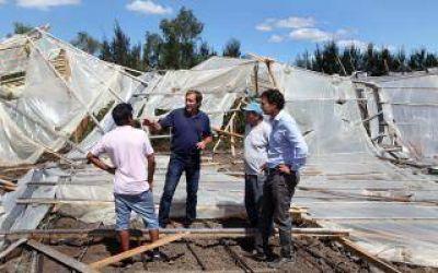 La Plata: Tras el temporal, el intendente Garro decretó la Emergencia agropecuaria
