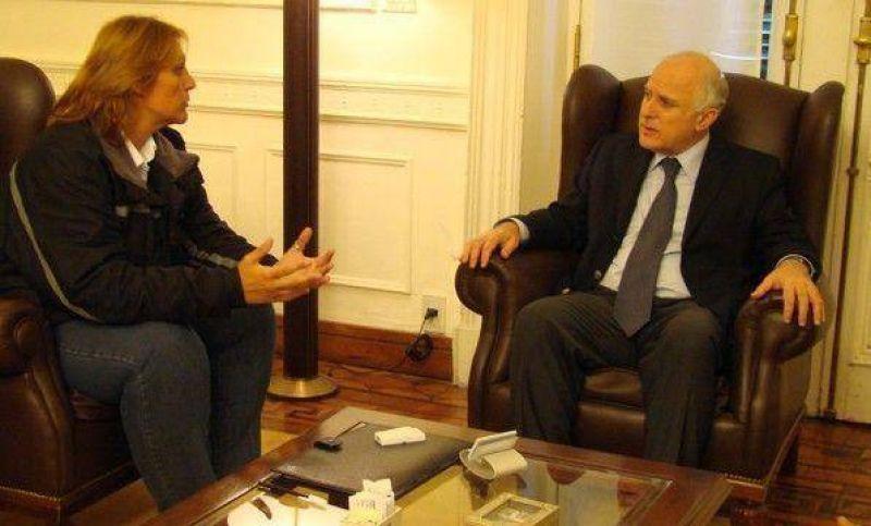 Vilma Baragiola se reunió con el intendente de Rosario