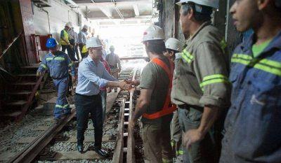 Línea C: Larreta recorrió obras en Estación Constitución
