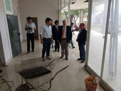 El Intendente Interino visitó el avance de obra del Concejo Deliberante