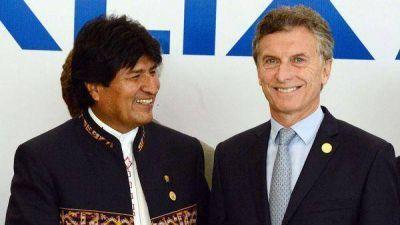 Mauricio Macri habló por teléfono con Evo Morales y le confirmó que vendrá a la Argentina
