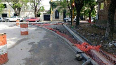 Desarrollan treinta obras en simultáneo y reducen tránsito en el centro