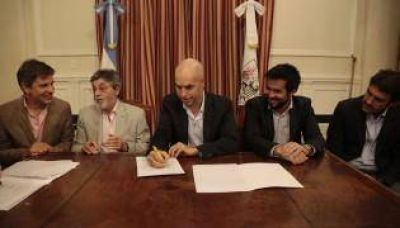 La Ciudad firmó un convenio con la AFIP, la AGIP y la AGC