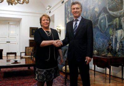 Macri y Bachelet se reúnen para afianzar vínculos entre el Mercosur