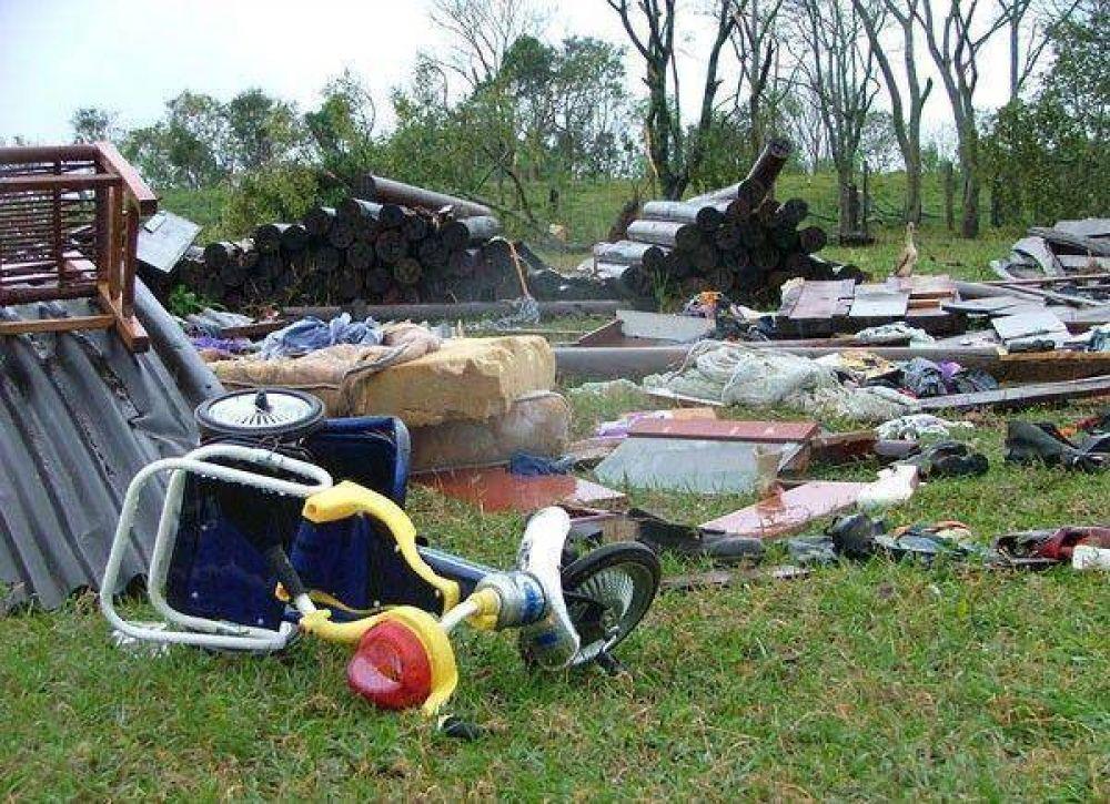 La furia del viento causó un desastre en Misiones