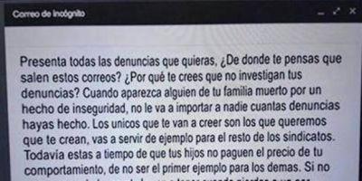 Grave: el correo de las amenazas a Roberto Baradel