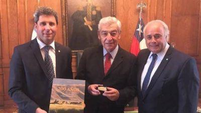 Uñac y Lima visitaron al embajador argentino en Chile