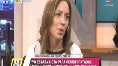 María Eugenia Vidal no descarta buscar una reelección en la Provincia