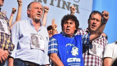 Las dos CTA acordaron la unificación y marcharán junto a la CGT el 7 de marzo