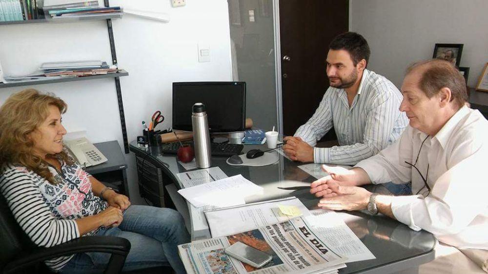 Lordén se reunió con el Director Asociado del Hospital de Luján