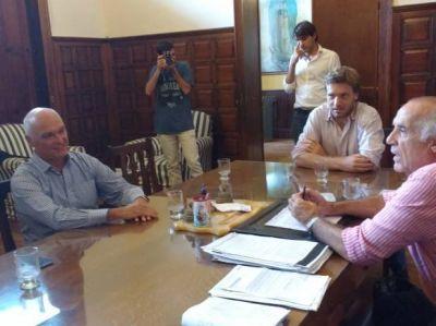 Passaglia y Mateucci recibieron a Marcelo Lobbosco