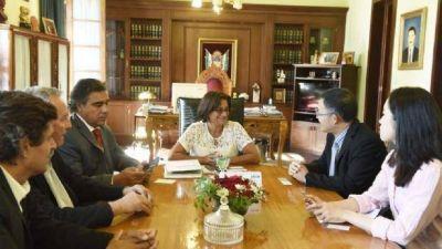 Lucía Corpacci se reunió con el consejero económico de China