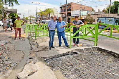 San Fernando realizó trabajos de mantenimiento en Av. Avellaneda y Rucci