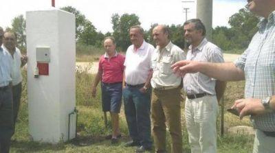 Se inauguró la obra de provisión de agua corriente para De La Canal