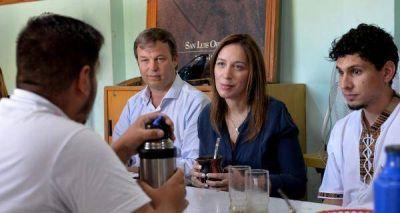 Tras las críticas del PJ, Vidal visitó un distrito peronista y le hizo un guiño al Grupo Esmeralda