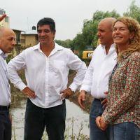 Comenzaron 33 obras de enlace para mitigar las inundaciones en Pilar