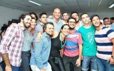 Martiniano Molina participó de una taller educativo contra la violencia de género