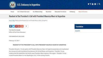 Donald Trump destacó el papel de liderazgo que juega Mauricio Macri en la región