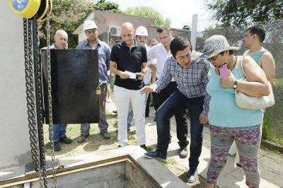 Quedó inaugurada la obra de extensión cloacal en Los Polvorines