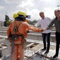 La Noria: Martín supervisó junto a Dietrich el avance del Viaducto