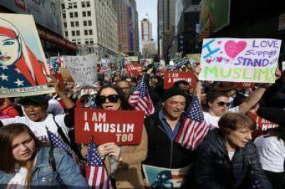 Movilización en Nueva York contra postura antimusulmana de Trump