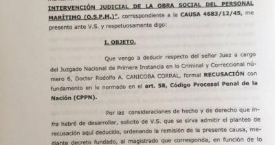 Recusan a Canicoba Corral por darle a su cuñado la caja de la obra social del SOMU
