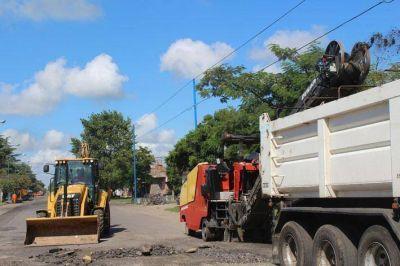 Comenzó el reasfaltado de la totalidad de la avenida 3 de Febrero
