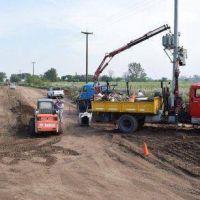 Importante avance de obras públicas en el distrito de Pellegrini