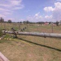 A tres días del fuerte viento en la ciudad, aún habían barrios sin energía eléctrica