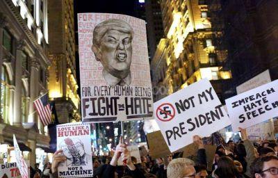 Siguen las manifestaciones contra Trump en ciudades de EEUU