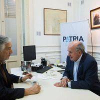 """Alberto Rodríguez Saá se reunió con Parrilli por la """"unidad del peronismo"""""""