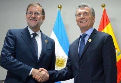 """Mariano Rajoy con Mauricio Macri: """"Tenemos unas relaciones bilaterales magníficas"""""""