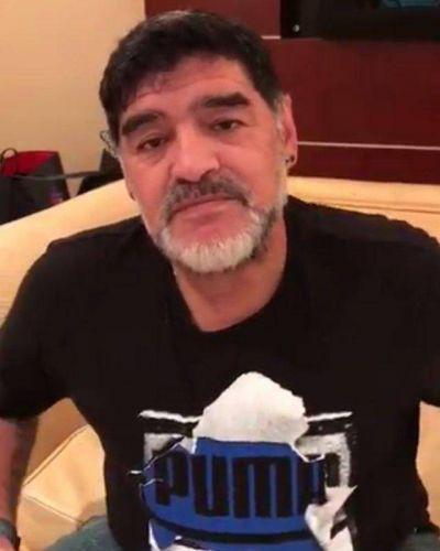 Diego Maradona realizó un video para saludar a Sergio Palazzo
