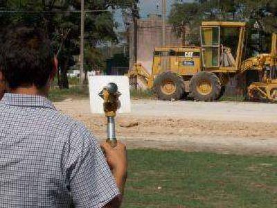 Avanzan las obras del playón deportivo en calles 100 y 65