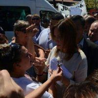 Vidal estuvo en Monte en medio de dos manifestaciones