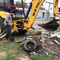 Retiraron gran cantidad de basura en las cloacas del San Antonio Este