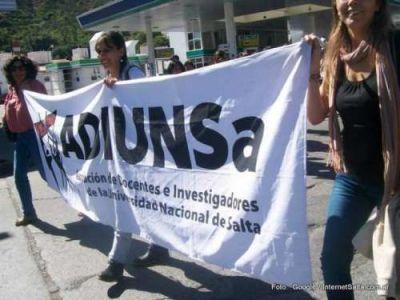 Los docentes de la UNSa anunciaron un paro por 72 horas