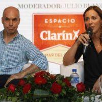 Vidal y Larreta debatieron sobre sus nuevos desafíos en Espacio Clarín