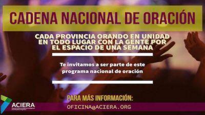 """El próximo 5 de marzo en Santiago del Estero se inicia la tercera edición """"Cadena Nacional de Oración""""."""